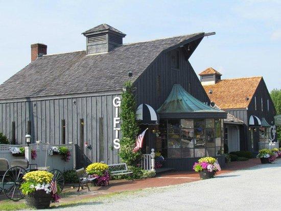 Greenbrier Inn: magasin de noël vue extérieure