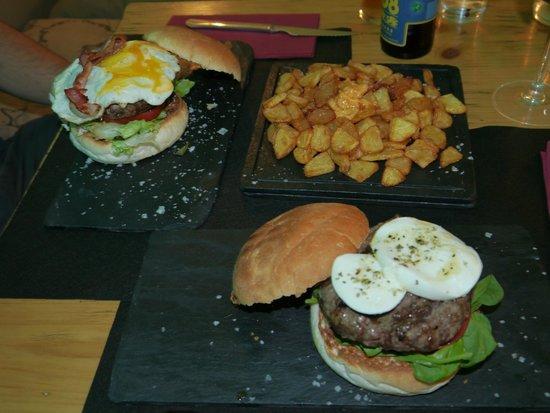 B Burger: Burgers and fries