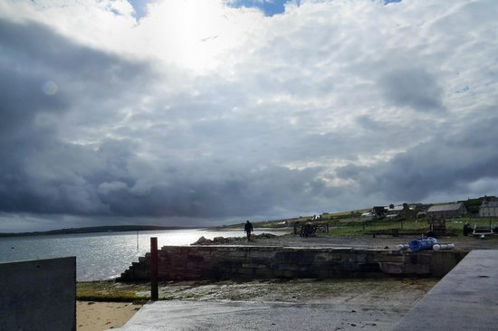 Burray Village, UK: View from hotel early eveing after a summer shower.