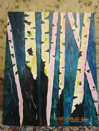 Jackson Art Studio & Gallery: Birch trees