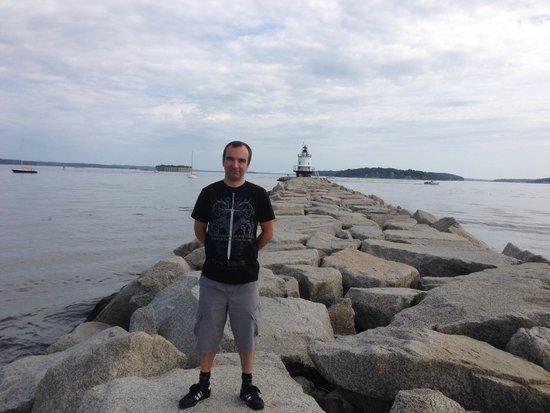 Spring Point Ledge Lighthouse: la longue marche pour atteindre le bout