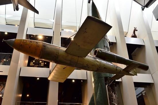 Museo Imperial de la Guerra: V2 flying bomb.