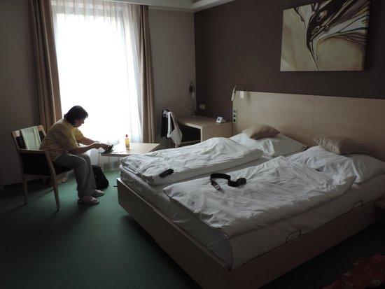 Pivovar: Zimmer mit Betten
