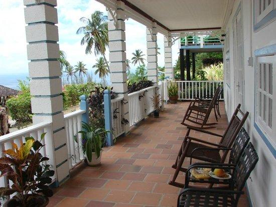 La Haut Resort: Sitzecke vor unserem Zimmer