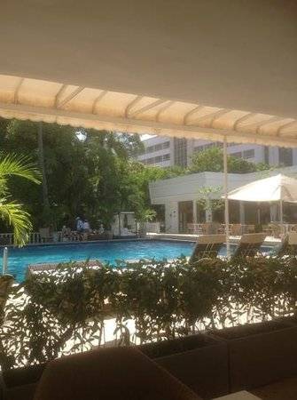 Hotel Caribe : View from poolside restaurant