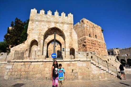 Tower of David Museum: In front of the museum entrance