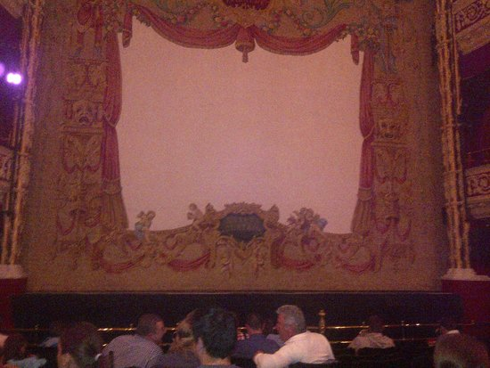 Gaiety Theatre: Pretty stage curtain