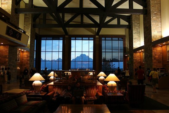 Jackson Lake Lodge : Great View from the upper lobby