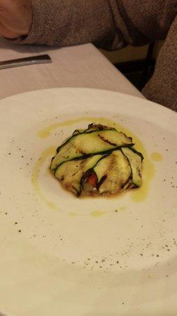 La Cartiera: sformato di melanzane con verdure grigliate