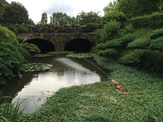 Chateau d'Ige: Jardin superbe malgré le temps maussade