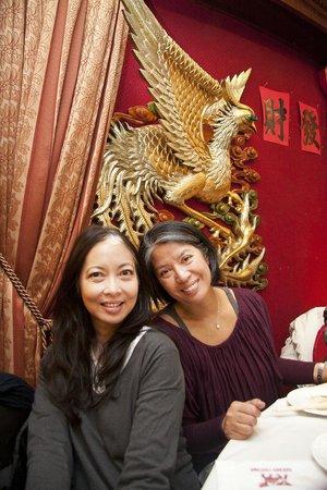 Golden Unicorn Restaurant : Tesa and MariCar smiling