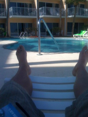 Relaxing at the Jupiter Waterfront Inn