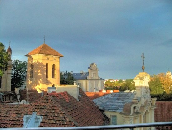 Europa Royale Vilnius: From our room window in early evening