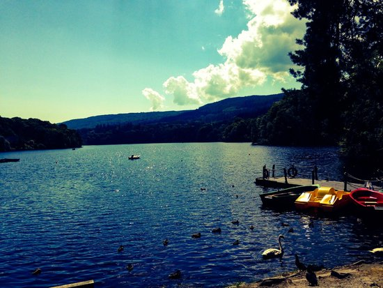 Pitlochry Boating Station Cafe: Lago