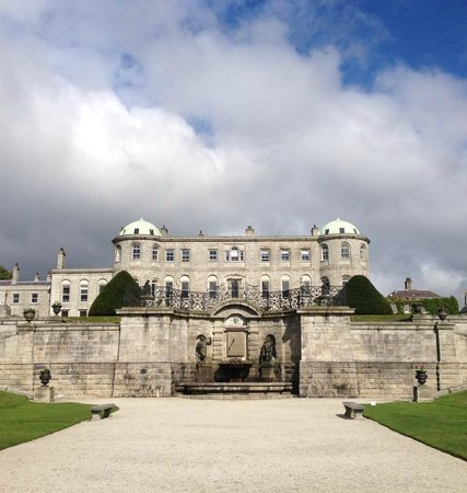 Powerscourt Gardens and House: A view of the house