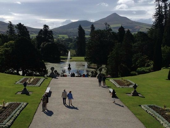 Powerscourt Gardens and House: A view of the gardens