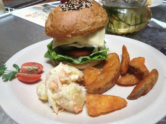 The Baboon House: burger