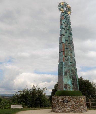 Saltash Celtic Cross: Celtic Cross from the Bridge