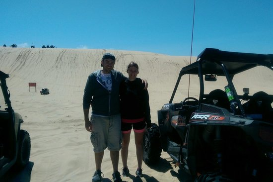 Silver Lake Sand Dunes: At the dunes in our rzr1000