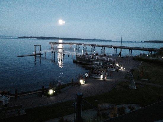 Sidney Waterfront Inn & Suites : Moon rising