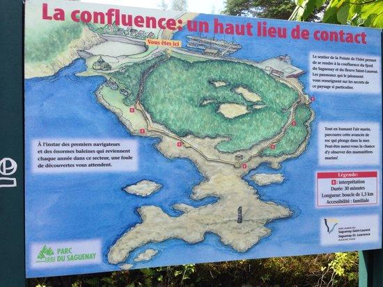 Sentier de la Pointe-de-l'Islet Trail : La carte du sentier de 1,3 km