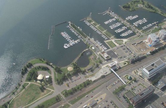 Prince Arthur Waterfront Hotel & Suites: Prince Arthur hotel from the air (in bottom right hand corner)