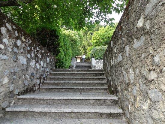 Palazzo Arzaga Hotel Spa & Golf Resort: Treppe zum Hotelgelände