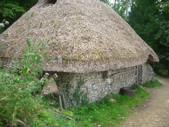 Weald & Downland Living Museum: outside one house