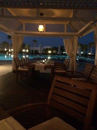 Baron Resort Sharm El Sheikh: pool ar restaurant at night