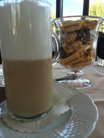 Hotel d'Angleterre: A giant jar of Toblerone or Swiss Chocolates accompanied coffee