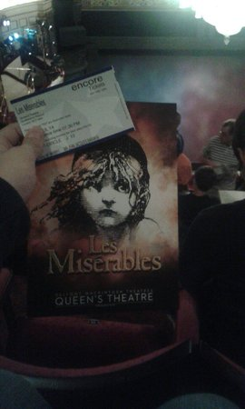Les Miserables London : My Programme And My Ticket