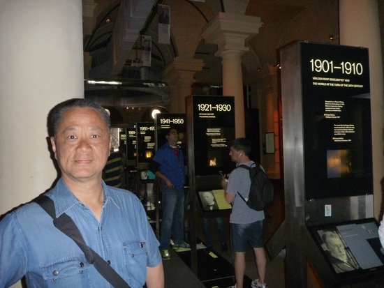 Nobel Museum main hall and the overhead moving display