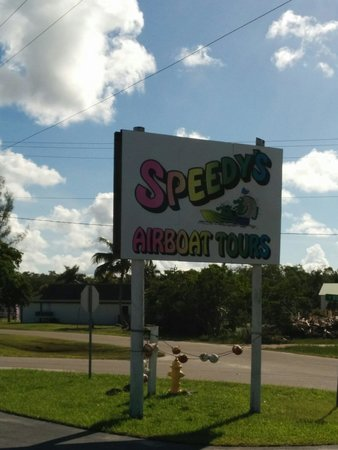 Speedy's Airboat Tours : Best  place to ride through the Everglades.