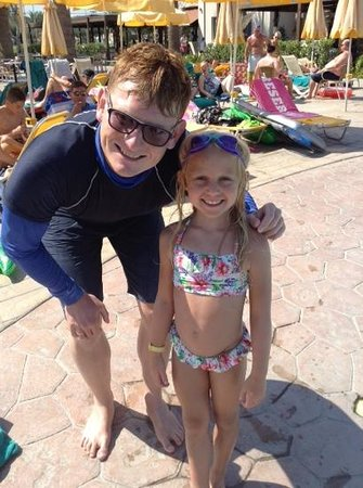 Holiday Village Kos by Atlantica: Jessie and the fantastic George who taught her how to swim!