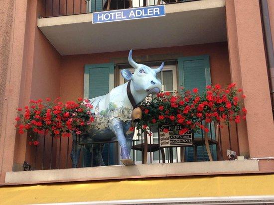 Hotel Adler: Balkon