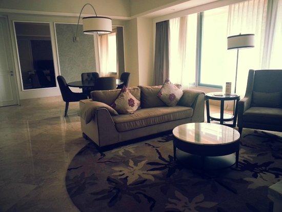 Living room in 2 bedroom premier - Picture of Ascott Jakarta ...