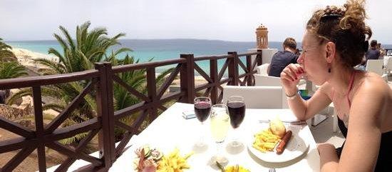 Club Jandia Princess Hotel: il pranzo con vista oceano