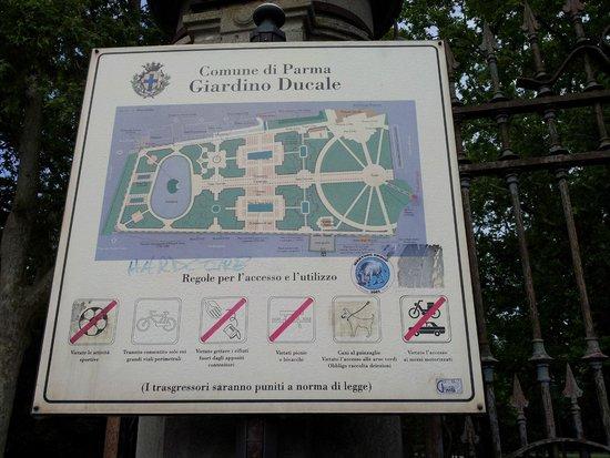 Parco Ducale: Pianta dei giardini