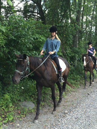Mount Bethel, Pensilvania: beginning of our trail ride