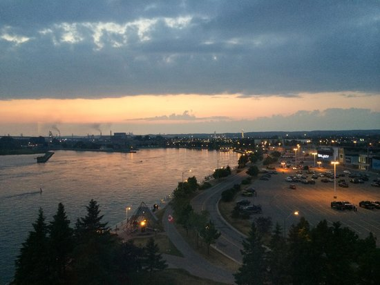 Delta Sault Ste. Marie Waterfront Hotel: Our view from the 7th floor