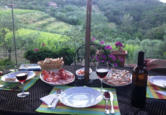Agriturismo Piaggione di Serravalle: The Start of Our Traditional Tuscan Dinner
