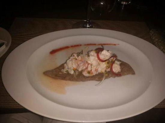Paradisus Punta Cana : Lobster and Shrimp Ceviche at La Palapa