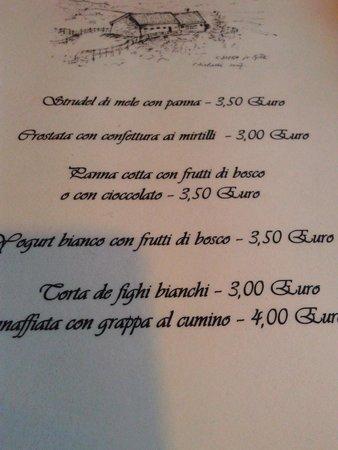 Fregona, Italie : tipi  dolci
