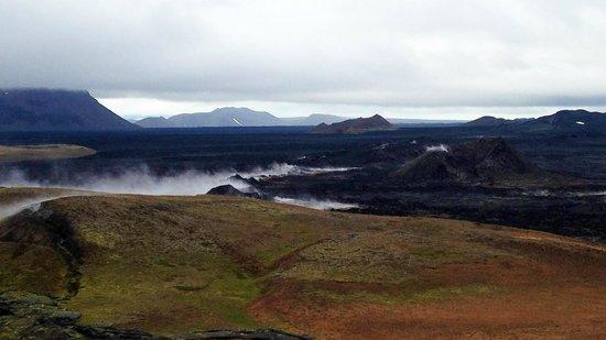 Krafla Lava Fields: Paseo por los senderos de lava