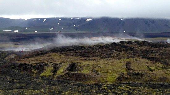 Krafla Lava Fields: Senderos de lava humeante