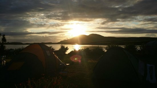 Mannix Point Camping and Caravan Park. (Mortimer's): sunset from our tent