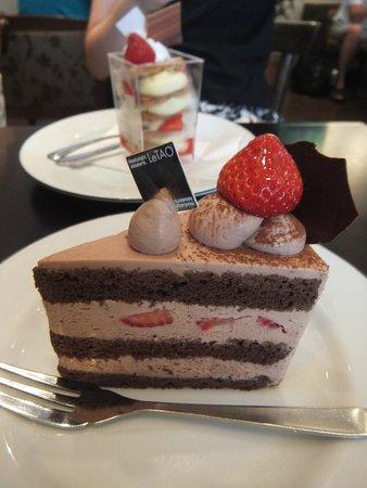 Le Tao Honten: チョコレートケーキとミルフィーユ