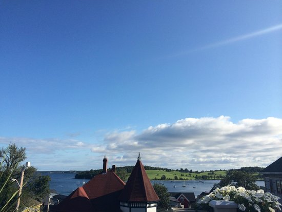 Boscawen Inn: view from balcony