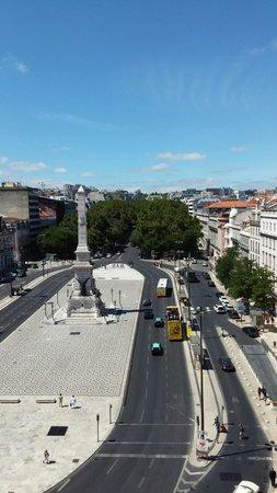 Altis Avenida Hotel: Vue vers Avenida da Liberdade