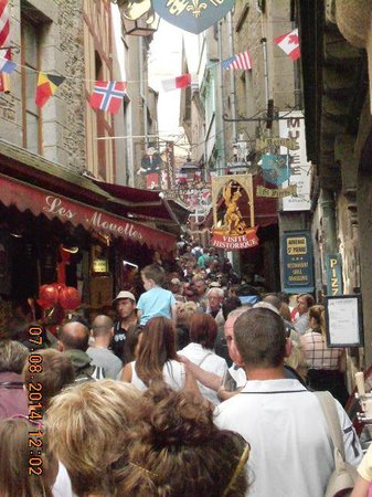 Abbaye du Mont-Saint-Michel : crowded!